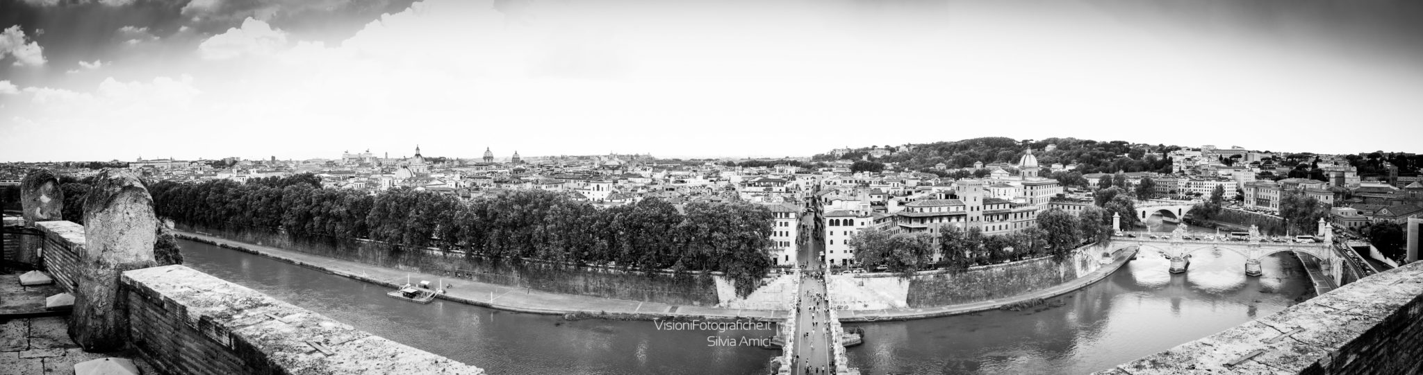 Panorama di Roma da Castel Sant'Angelo